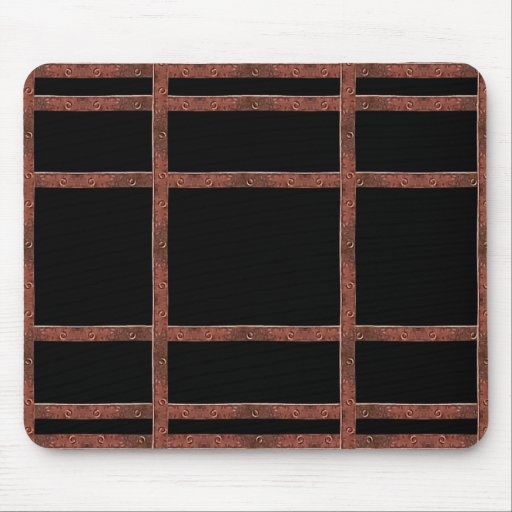 Industrial Iron Grid Mousepad