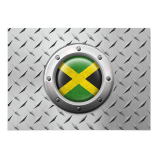 Industrial Jamaican Flag with Steel Graphic Custom Invitations