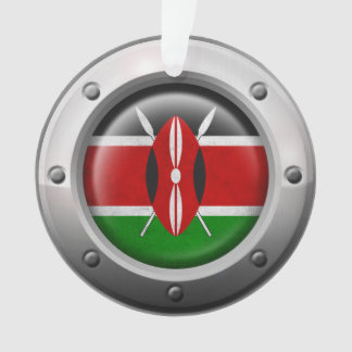 Industrial Kenyan Flag with Steel Graphic