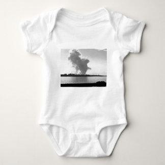 Industrial landscape along the coast baby bodysuit