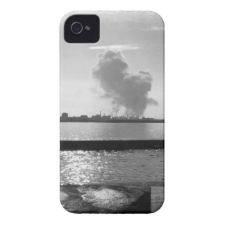 Industrial landscape along the coast iPhone 4 Case-Mate cases