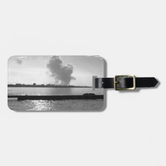 Industrial landscape along the coast luggage tag