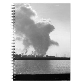 Industrial landscape along the coast notebook