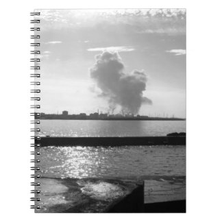 Industrial landscape along the coast notebooks