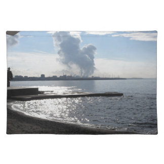 Industrial landscape along the coast placemat