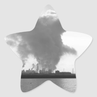 Industrial landscape along the coast star sticker