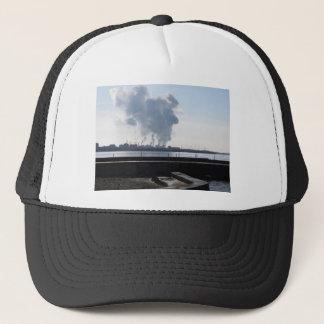 Industrial landscape along the coast trucker hat