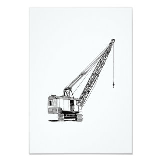 Industrial Lifting Crane 9 Cm X 13 Cm Invitation Card