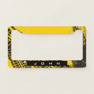 Industrial Man-Cave Garage Tire Track. Add Name. Licence Plate Frame