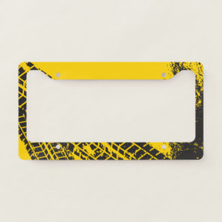 Industrial Man-Cave Garage Tire Track. Licence Plate Frame