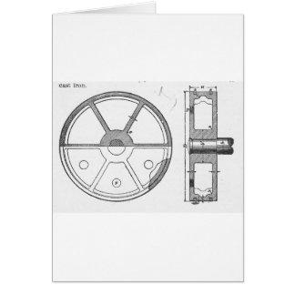 Industrial Mechanical Gears Ephemera Print Card