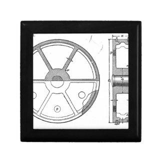 Industrial Mechanical Gears Ephemera Print Gift Box