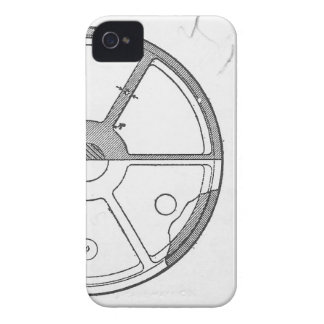 Industrial Mechanical Gears Ephemera Print iPhone 4 Cover