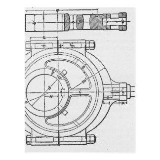 Industrial Mechanic's Gears Graphic Postcard