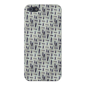Industrial Metal Diamond Plate Steel Pattern iPhone 5 Cases