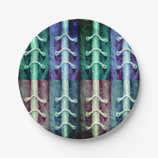 Industrial Minimalism Colors Abstract Design Paper Plate