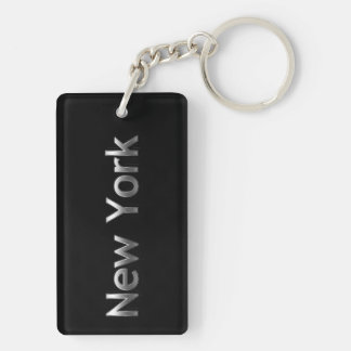 Industrial New York - On Black Key Ring