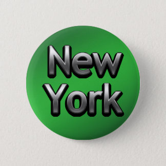 Industrial New York - On Green 6 Cm Round Badge