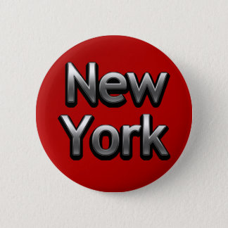 Industrial New York - On Red 6 Cm Round Badge