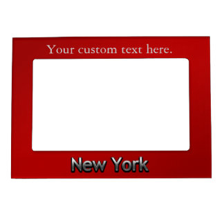 Industrial New York - On Red Magnetic Picture Frame
