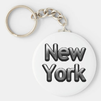Industrial New York - On White Key Ring