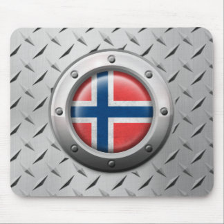 Industrial Norwegian Flag with Steel Graphic Mousepads