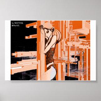 industrial orange poster