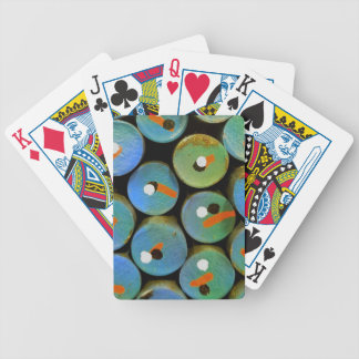 Industrial peacock bicycle playing cards