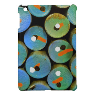 Industrial peacock iPad mini cover