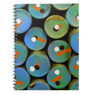 Industrial peacock notebooks