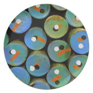 Industrial peacock plate