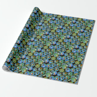 Industrial peacock wrapping paper