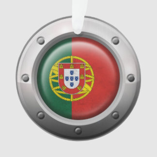 Industrial Portuguese Flag with Steel Graphic