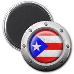 Industrial Puerto Rican Flag Steel Graphic