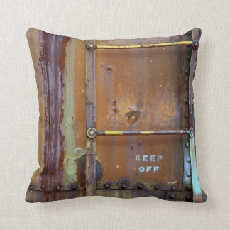 Industrial Rust: Keep Off Photography Cushion