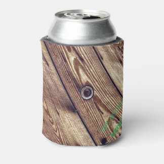 Industrial Rustic Wood Can Cooler