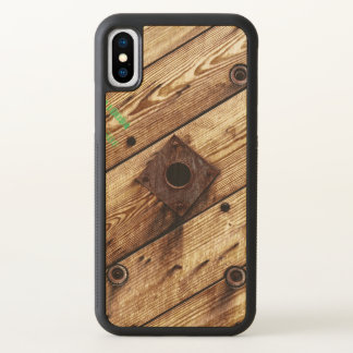 Industrial Rustic Wood iPhone X Case