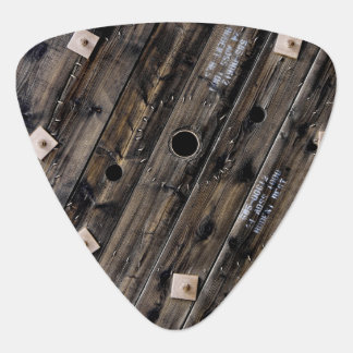 Industrial Rustic Wood Plectrum