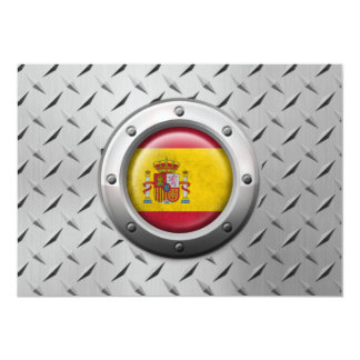 Industrial Spanish Flag with Steel Graphic Personalized Invitations