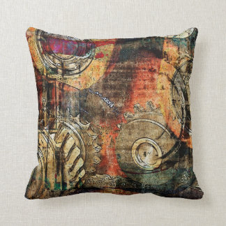 industrial steampunk pillow