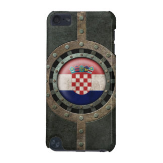Industrial Steel Croatian Flag Disc Graphic iPod Touch 5G Cases