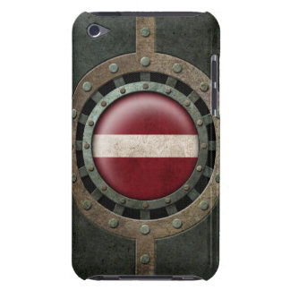 Industrial Steel Latvian Flag Disc Graphic Case-Mate iPod Touch Case