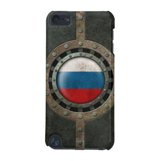 Industrial Steel Russian Flag Disc Graphic iPod Touch 5G Covers