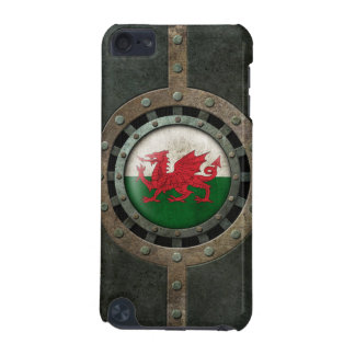Industrial Steel Welsh Flag Disc Graphic iPod Touch 5G Cover