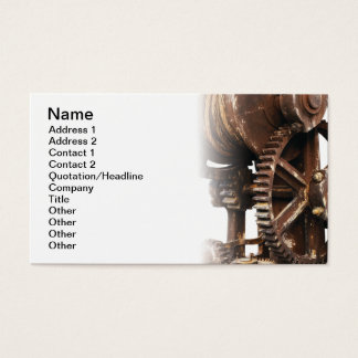 Industrial wheel business card