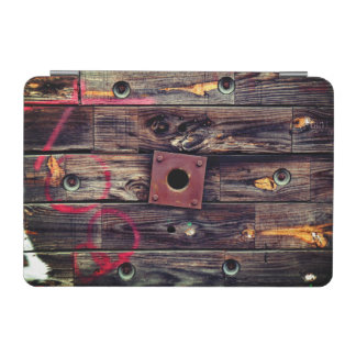 Industrial Wood Rustic Wooden Wire Spool iPad Mini Cover