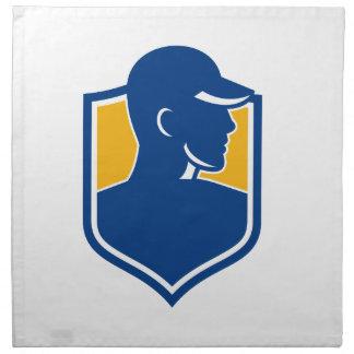 Industrial Worker Crest Icon Napkin