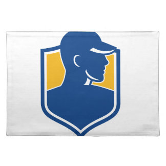 Industrial Worker Crest Icon Placemat