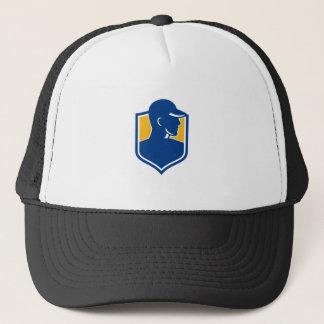 Industrial Worker Crest Icon Trucker Hat
