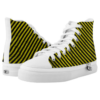 industrial yellow stripes grunge texture pattern p printed shoes